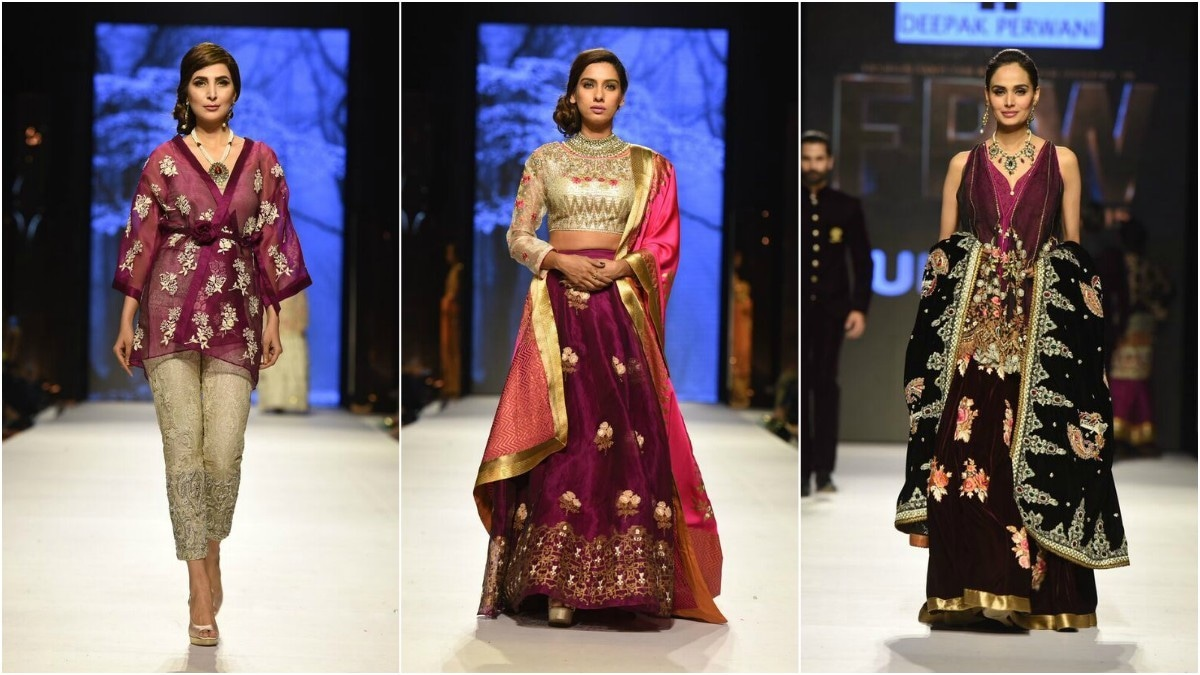 Perwani used a colour palette consisting of deep purple hues perfect for fall/winter