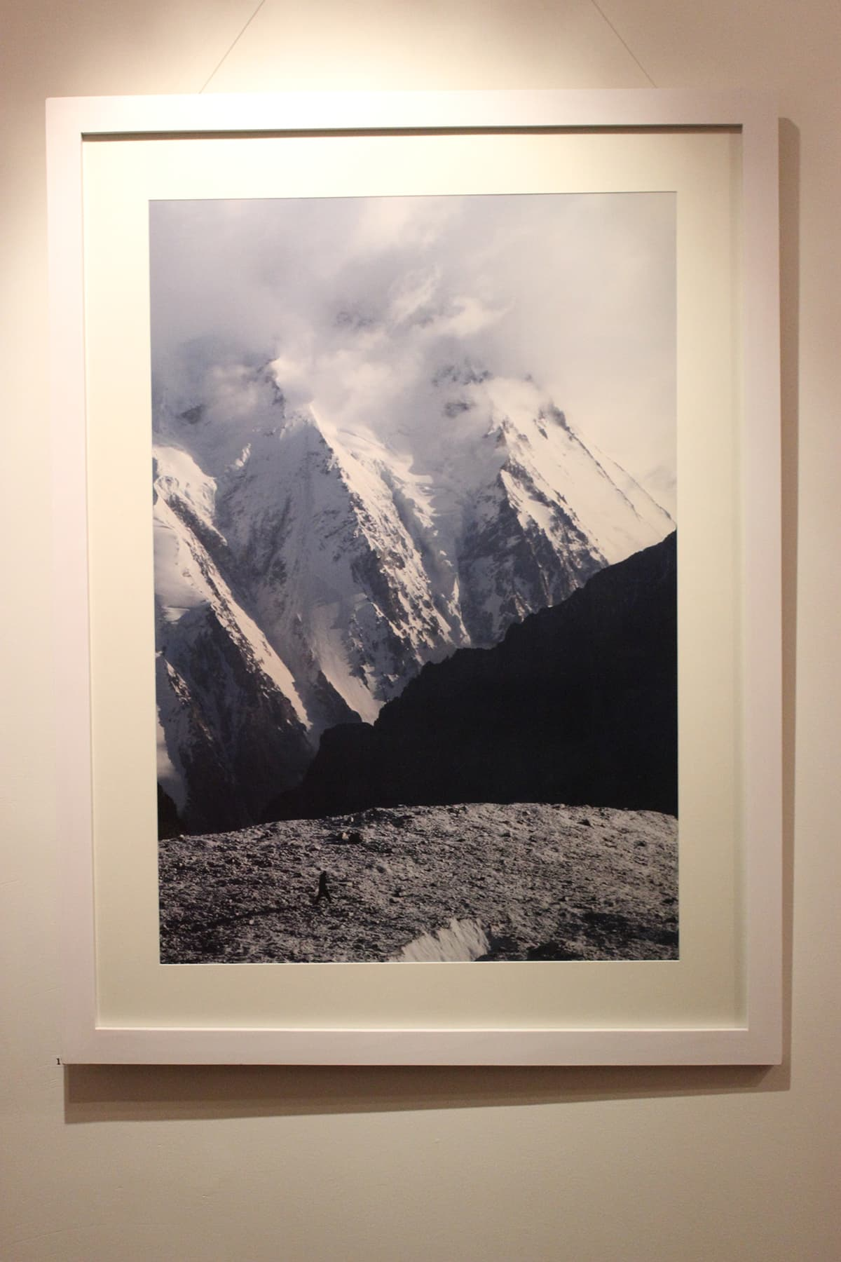 A minuscule figure of a man can be seen in this photo of a mighty Karakoram. — Photo by Ibtisam Khanzada