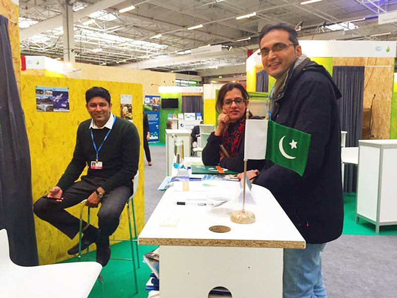 The Pakistani pavilion at COP21.