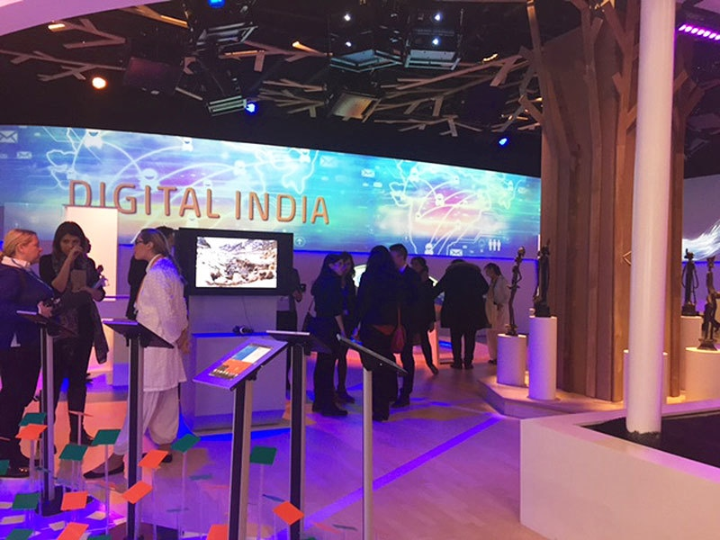 The hi-tech Indian pavilion at COP21.