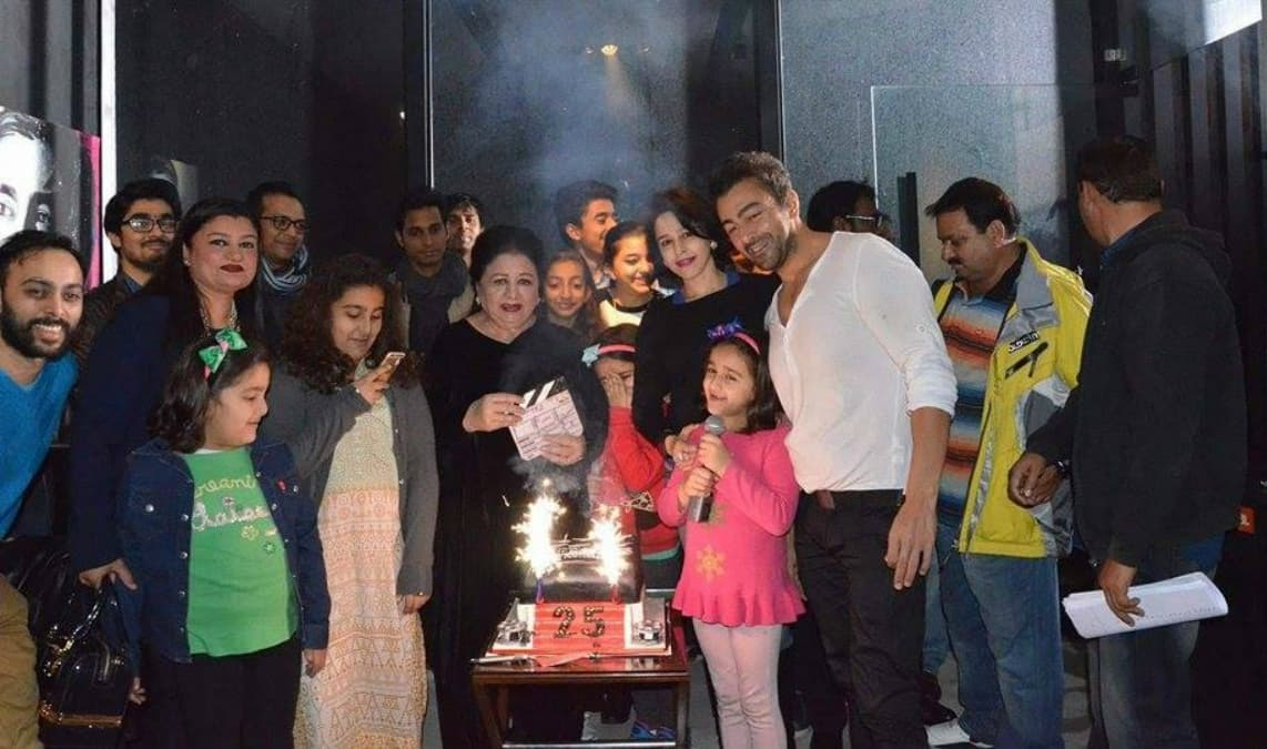 Shaan's mother, the prolific actress Neelo, inaugurated Arth 2's shooting - Publicity photo