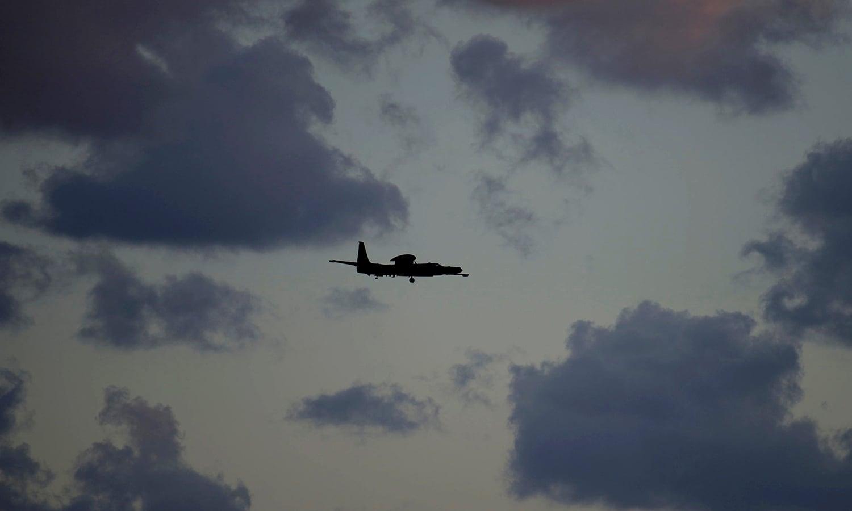 An aircraft comes in to land at RAF Akrotiri. ─ AP