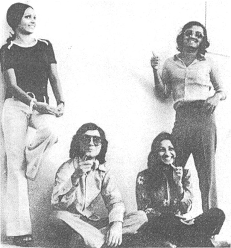 Flamboyant: A group of Pakistani students in 1975.