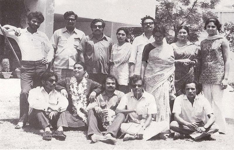 A group of friends in Karachi, 1971.