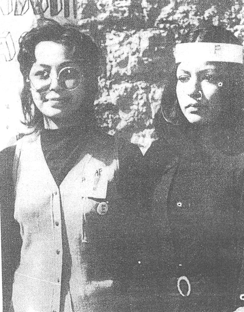 Two candidates of far-left student groups during an election at the Karachi University (1973). —Photo courtesy of The Herald