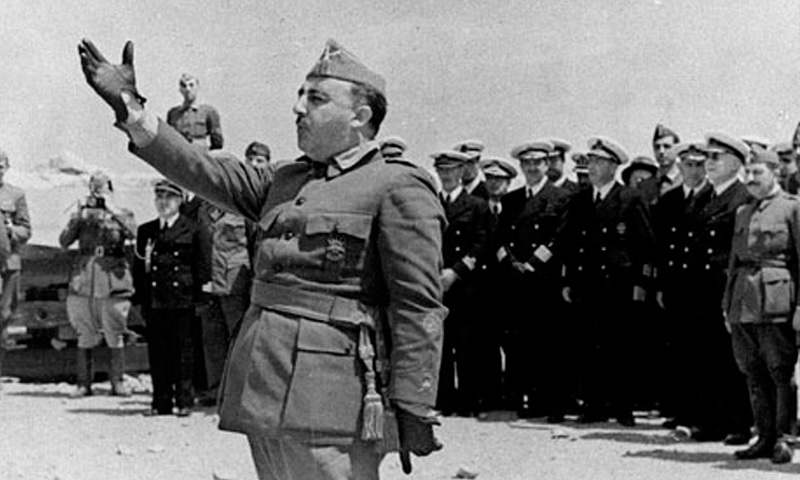 General Francisco Franco pictured in Vinaroz, Spain, in July 1938 during the Spanish civil war.