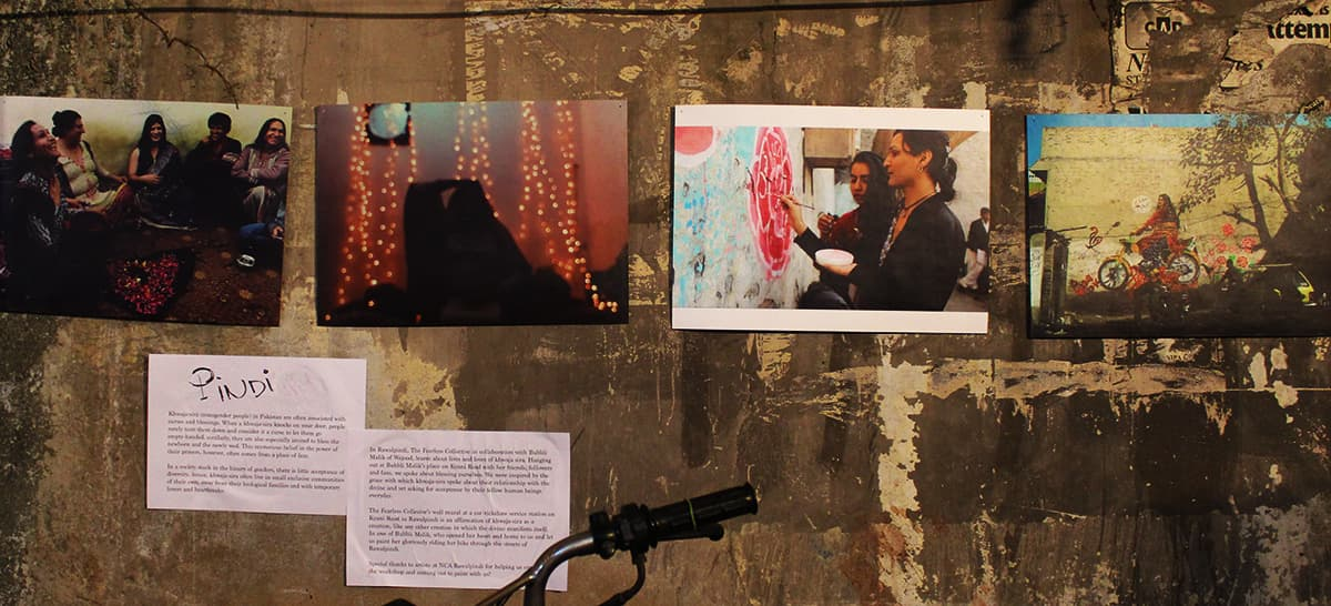 Series of photographs showing Fearless's workshop in Pindi. — Photo by Zoya Anwer
