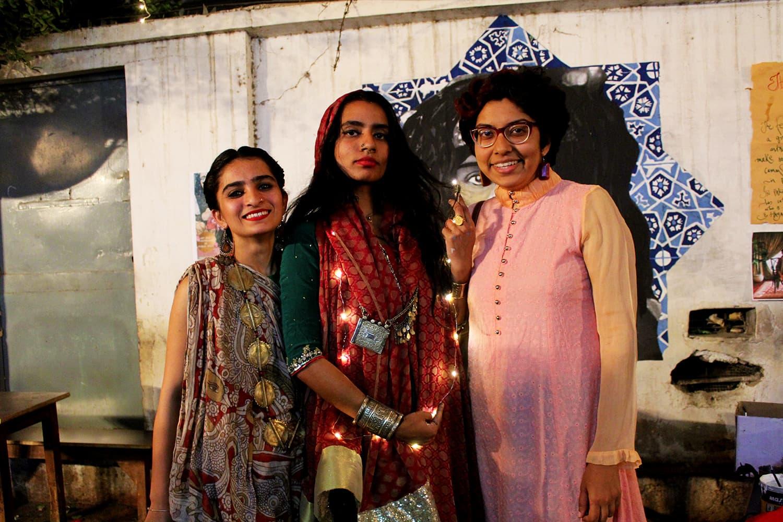 (L-R): Nida Mushtaq, Shilo Sulaiman and Haya Fatima. — Photo by Zeresh John