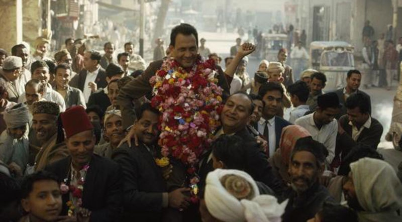 A PPP candidate and his supporters celebrate victory in Hyderabad (1970).