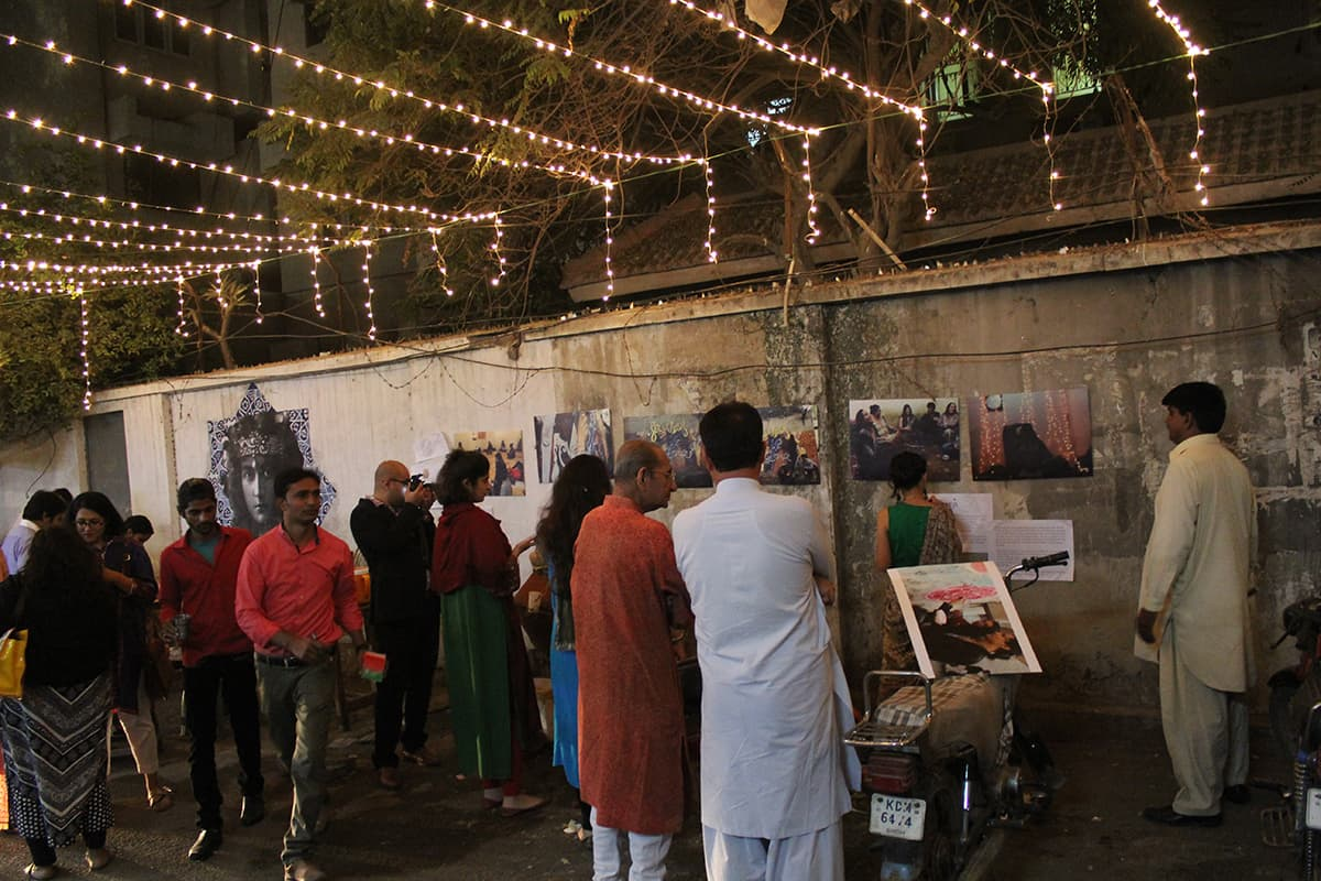 Visitors at the exhibit — Photo by Zoya Anwer