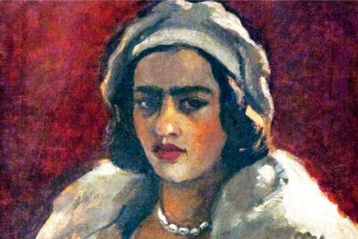 A self-portrait of artist Amrita Sher-Gil – courtesy NGMA