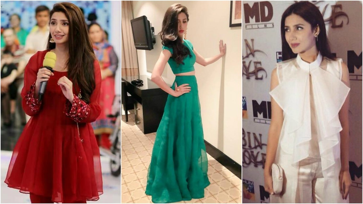 Mahira often reaches for Feeha Jamshed ensembles, be it for the red carpet or a Jeeto Pakistan performance