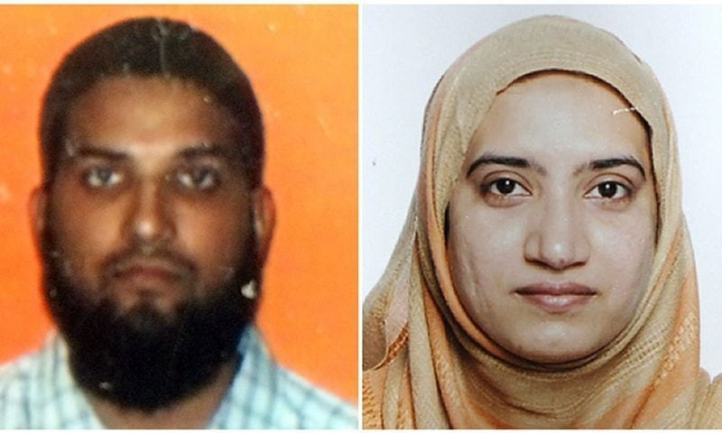 Syed Rizwan Farook and wife Tashfeen Malik. — AFP/File