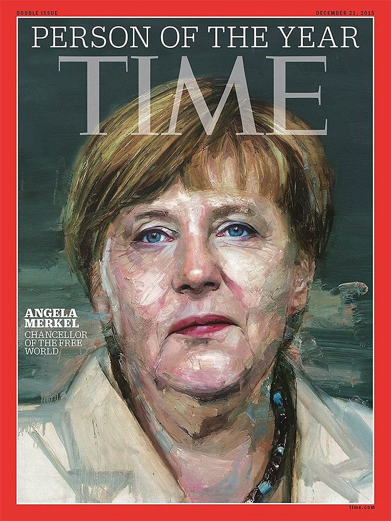 German Chancellor was praised by magazine for leadership. ─TIME's Facebook page