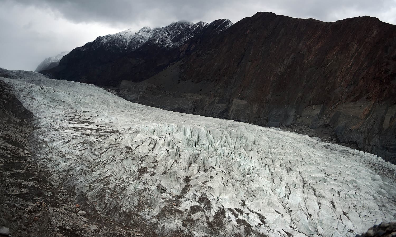 A general view of Passu glacier is seen in Pakistan's Gojal Valley. — AFP