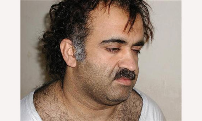 Khalid Sheikh Mohammed seen shortly after his arrest in 2003. — Reuters