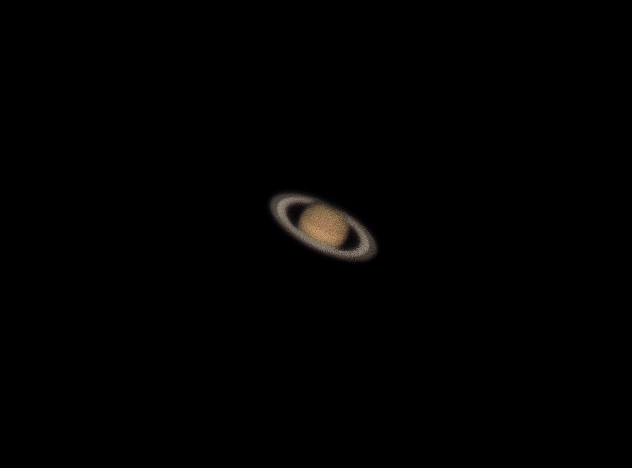 A picture of Planet Saturn. —Photo by author