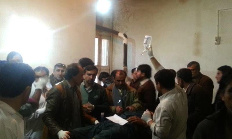 Blast victims were shifted to District Headquarters Hospital (DHQ) Parachinar for treatment.  — DawnNews screengrab