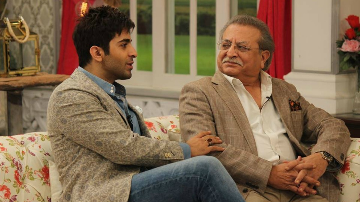 Sheheryar on 'Good Morning Pakistan' with his father —Photo courtesy: Ho Mann Jahaan Official Facebook page