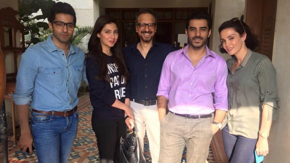 From L-R: Sheheryar Munawar, Mahira Khan, Asim Raza, Adeel Hussain and Sonya Jehan —Publicity photo
