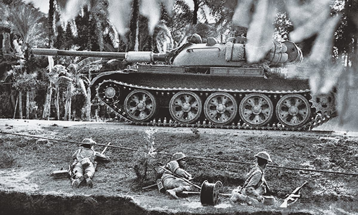 'The conflict in 1971 was the climax of a long struggle by the people of East Pakistan of acquiring autonomy through political means': The Pakistani military conducting an operation against India during the 1971 war| courtesy official Mujibnagar website