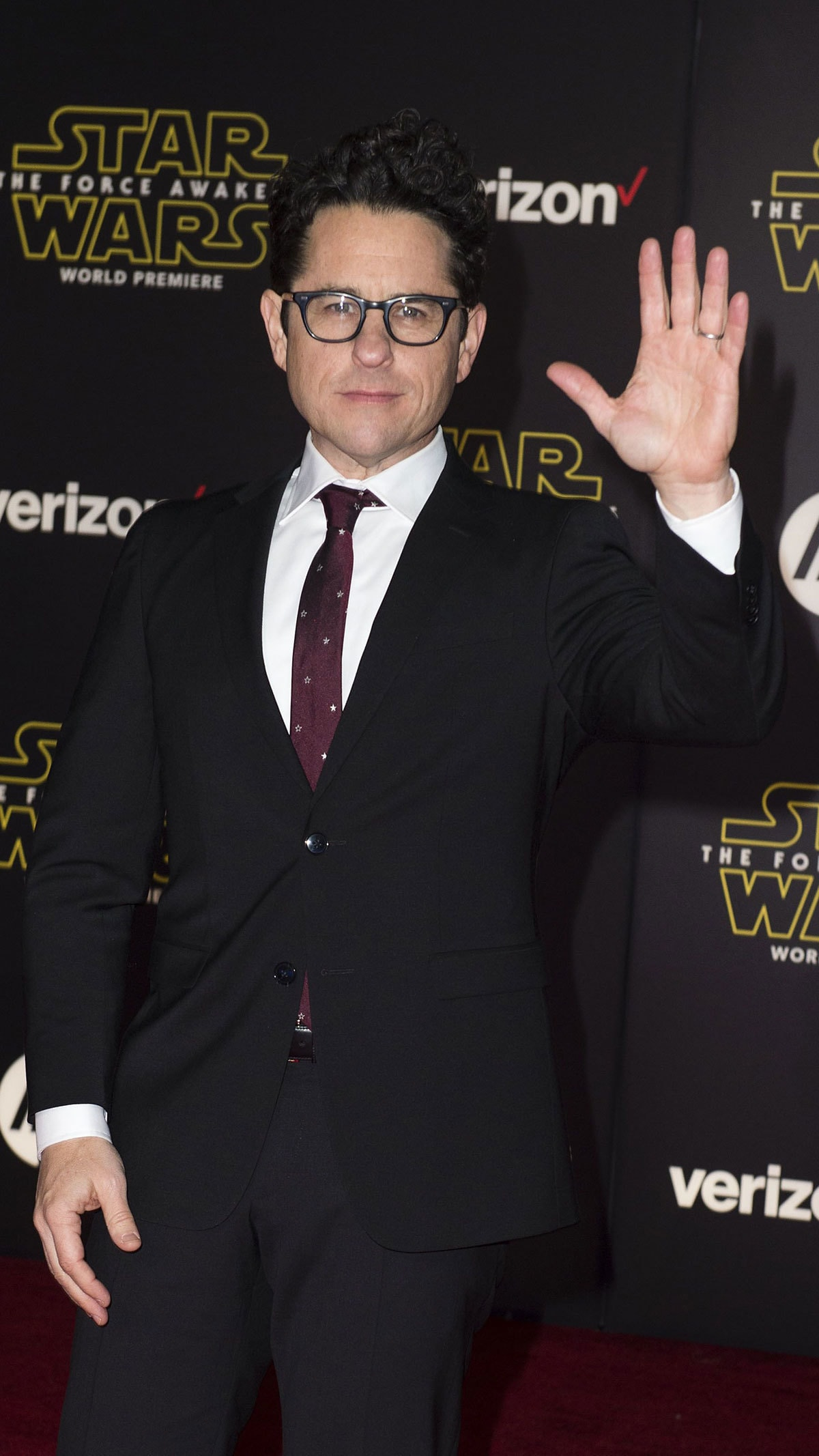 """Writer-director J.J. Abrams attends the World Premiere of """"Star Wars: The Force Awakens"""", in Hollywood, California.—AFP"""