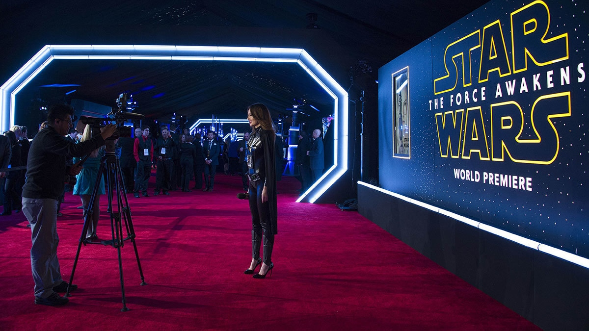 "General view of the set up at the World Premiere of ""Star Wars: The Force Awakens"", in Hollywood, California.─AFP"