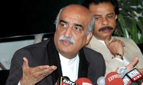 PAC Chairman Khursheed Ahmed Shah is seen in this file image. He directs the NLC to get its accounts updated by April 31. —APP/File