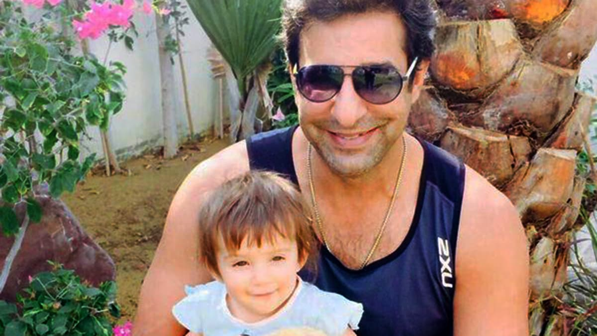 Wasim's pic with daughter Aiyla gives other celeb dads some tough father-daughter goals to beat