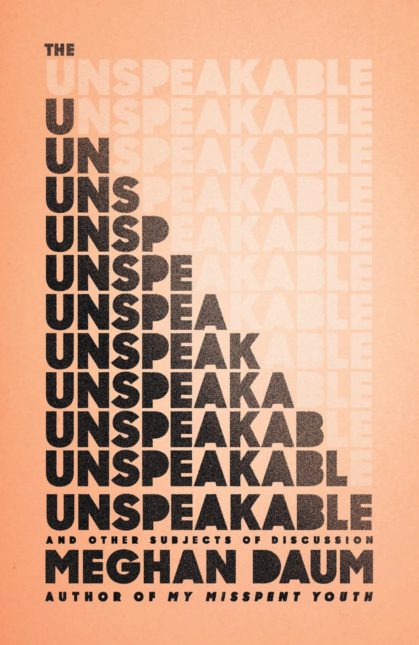 The Unspeakable: And Other Subjects of Discussion  By Meghan Daum