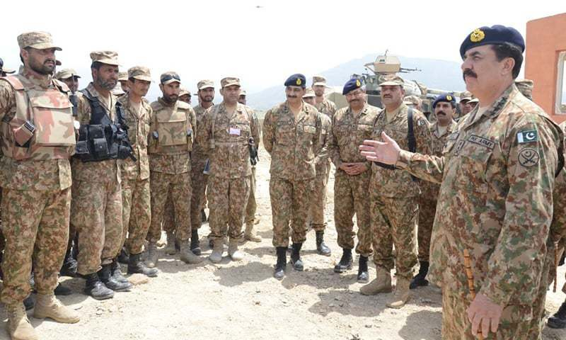 Army chief visited North Waziristan where he was briefed about the progress of Operation Zarb-i-Azb and return of IDPs. —Photo:ISPR/File