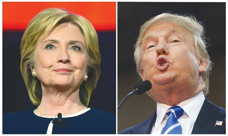 """Trump said Clinton had no evidence to back up a charge she made during a debate on Saturday that the Republican frontrunner is becoming the extremist group's """"best recruiter.""""  — AFP/File"""