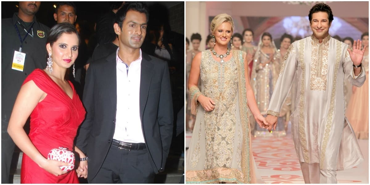 The boys played well! Sania and Shoaib (left) and Wasim and Shaniera (right).