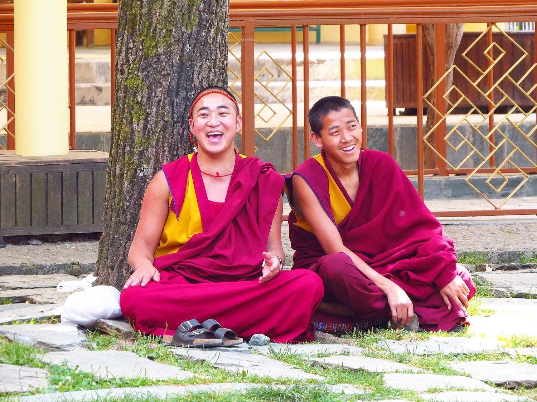 Laughing monks, McLeod Ganj.