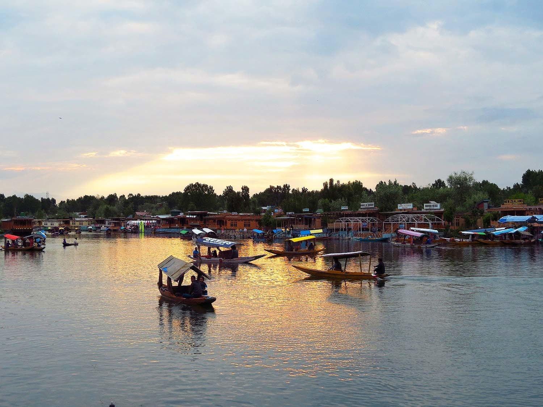 Sunset at Dal Lake, Srinagar.