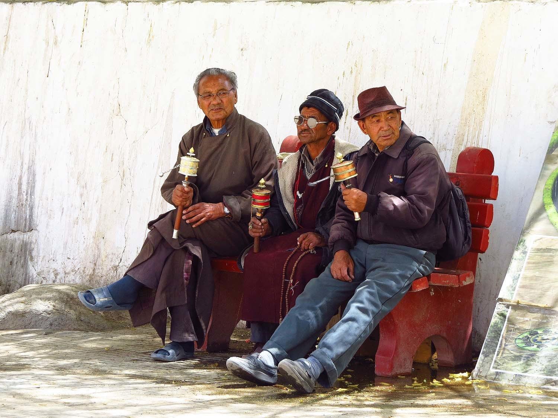 Buddhists in Leh, Ladakh.
