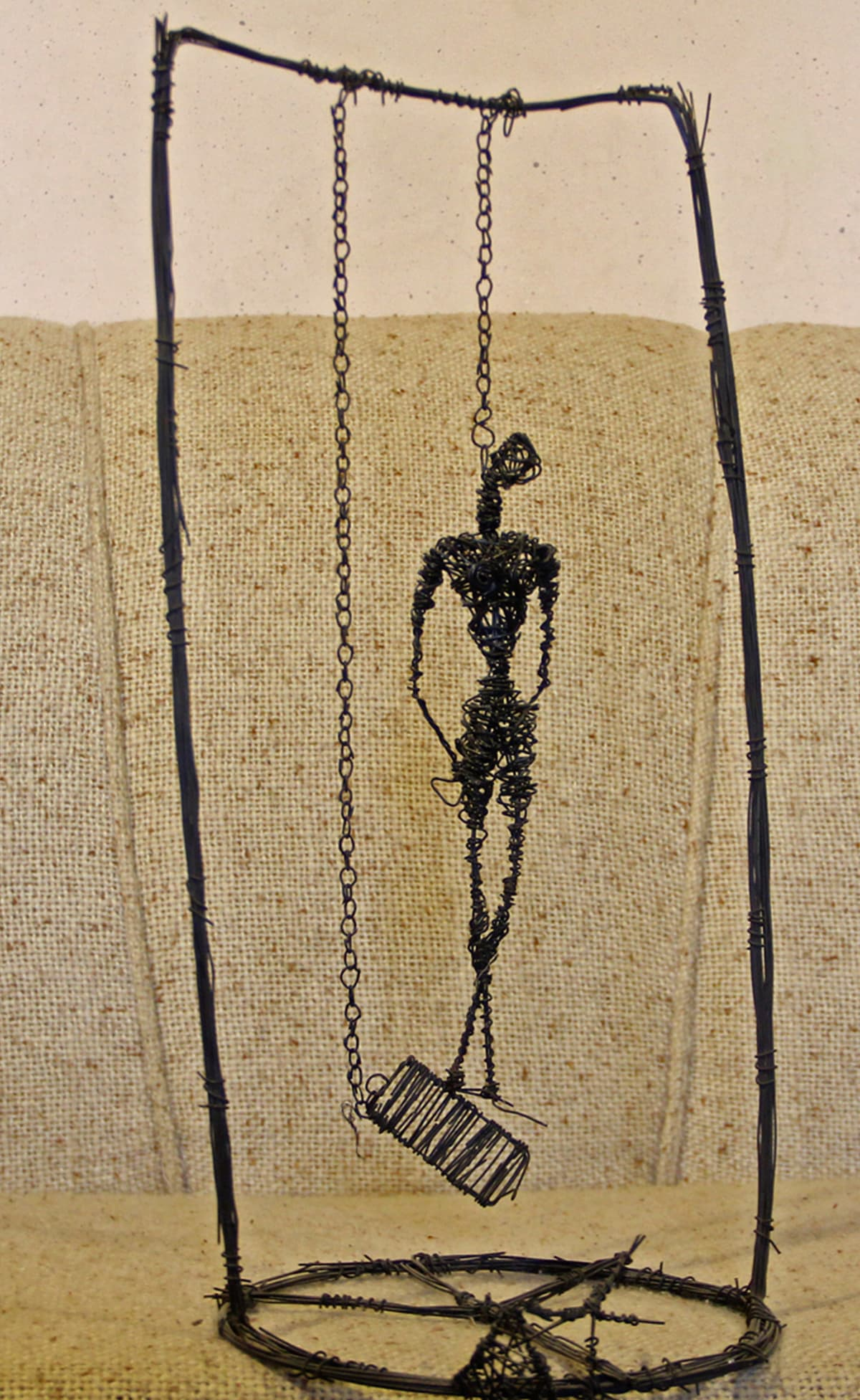 Sculpture of wire and chain by Mawara, an artist from Swat | Fazal Khaliq