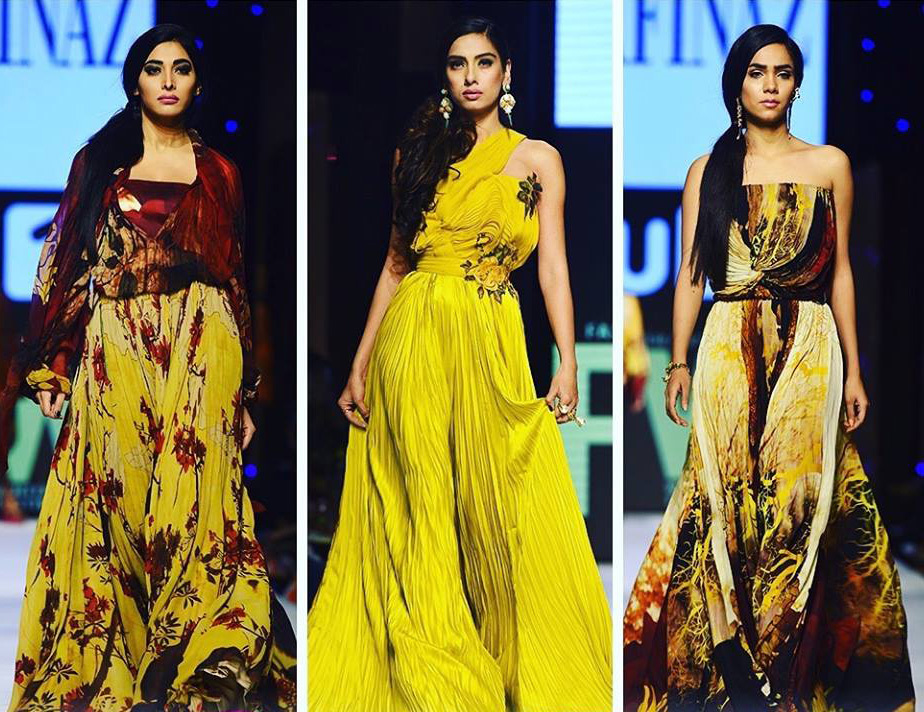 SANASAFINAZ at Fashion Pakistan Week 2015. Photo: SANASAFINAZ's Facebook page.