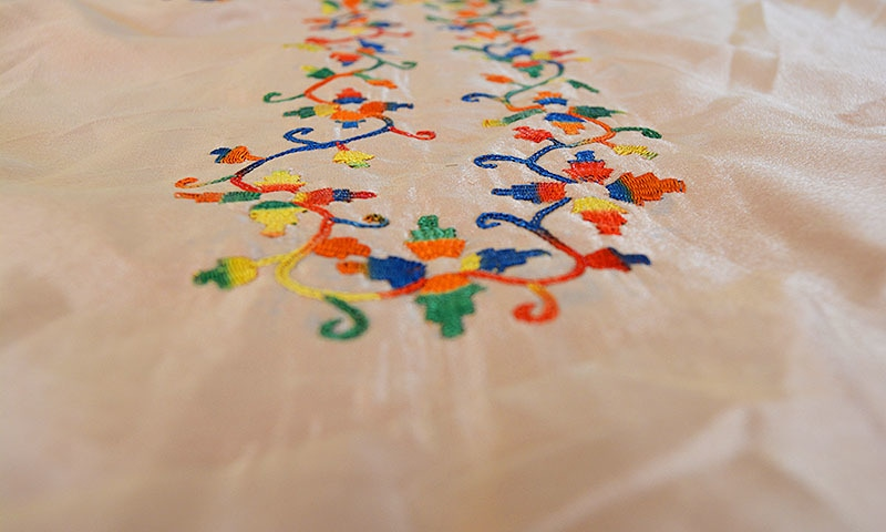 Embroidered shirt.