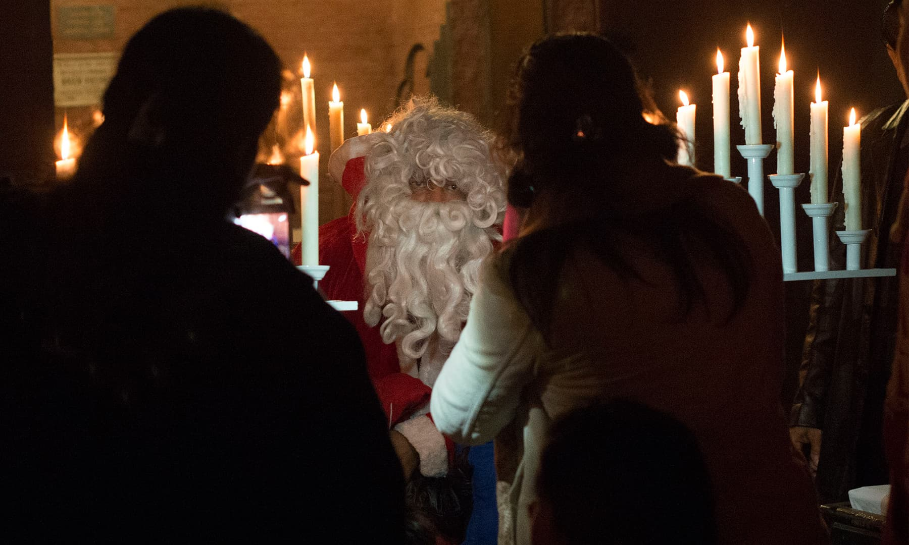 Santa Claus makes an appearance during a pre-Christmas Sunday service | M Arif, White Star