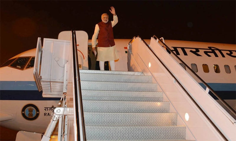 Modi departs.─ Photo: PID Pakistan