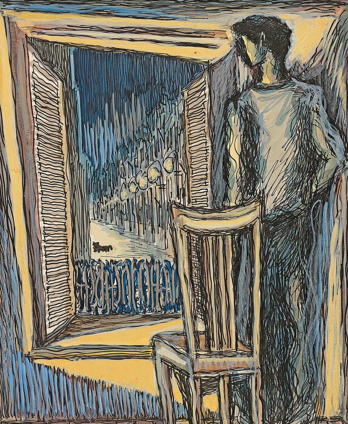 Untitled, (Meursault at the Window), 1966