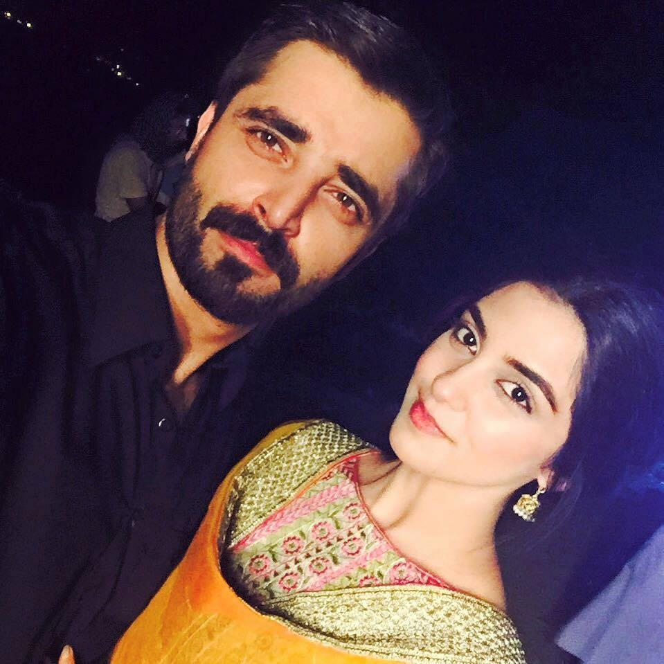 Hamza and Maya on set. Photo: Tera Gham Aur Hum Facebook page