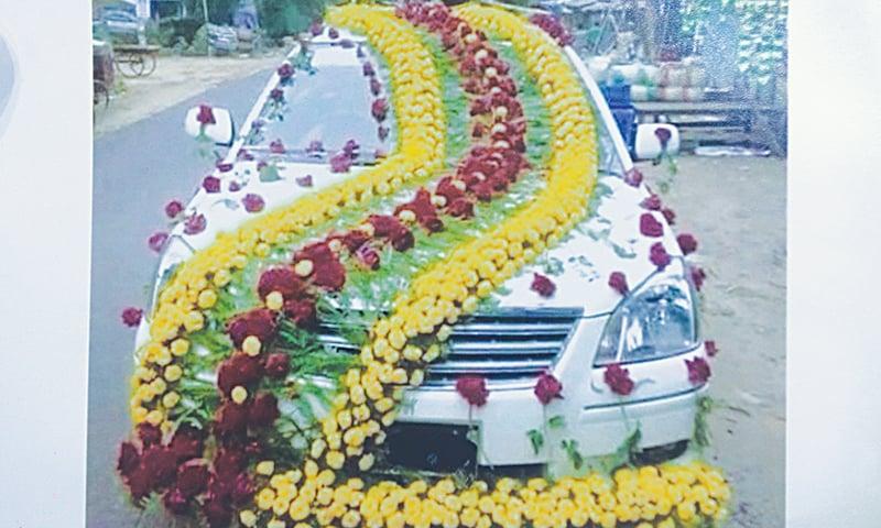 Doli on wheels pakistan dawn a heavily decorated wedding car junglespirit Gallery