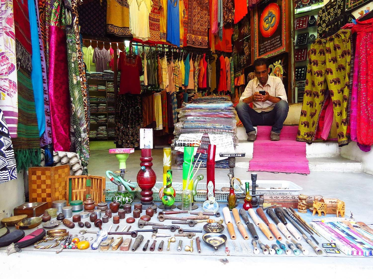 A shop in Old Manali.