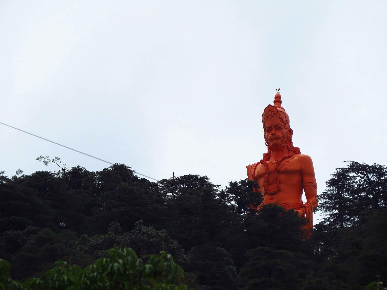 A Hanuman statue overlooking Shimla.