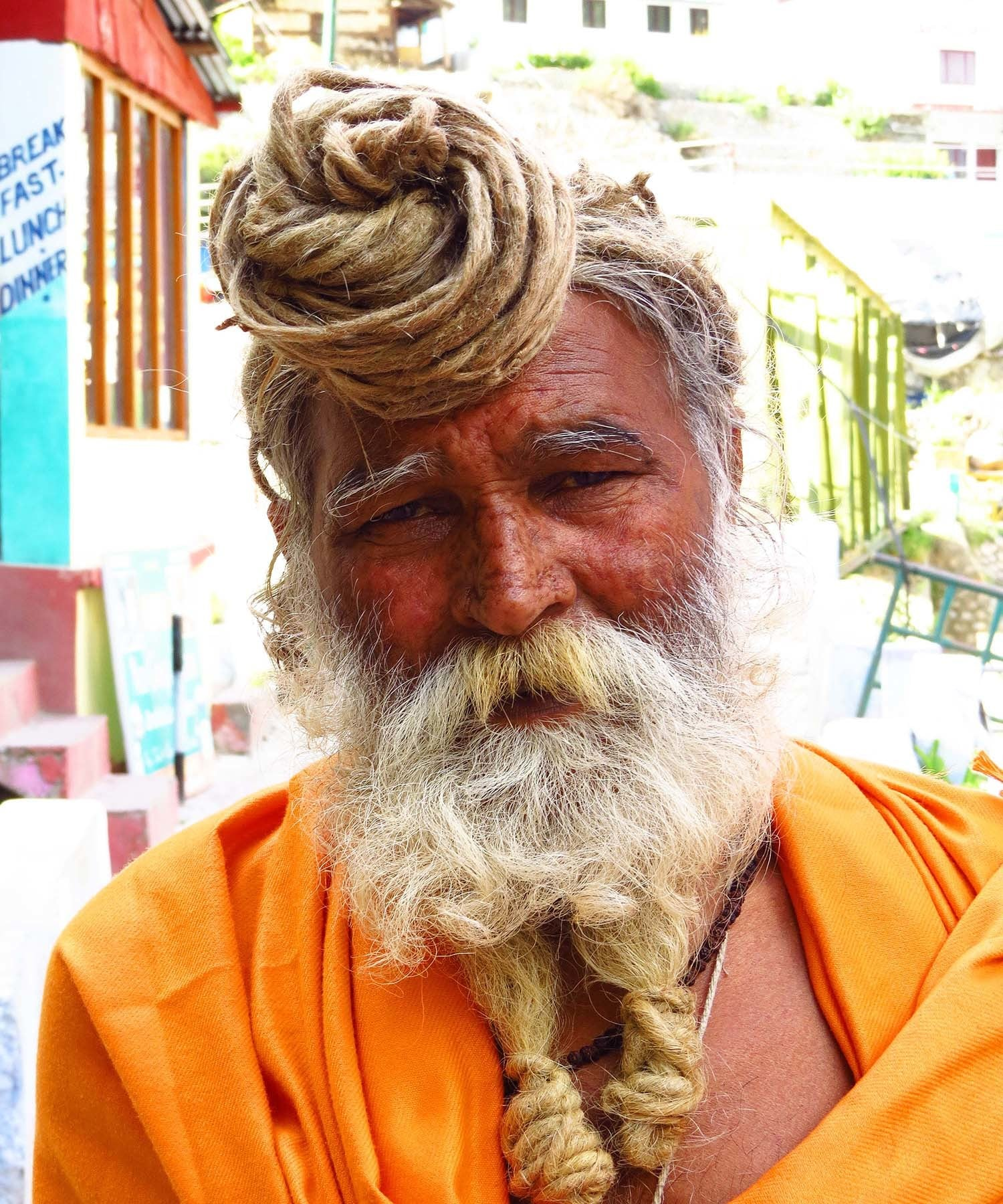 A saddhu in Gangotri.