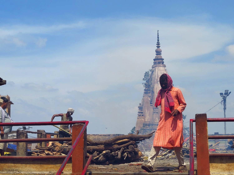 A burning ghat in Varanasi.