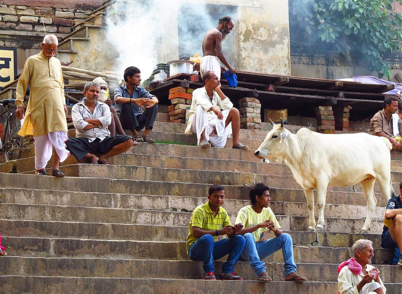 A ghat in Varanasi.