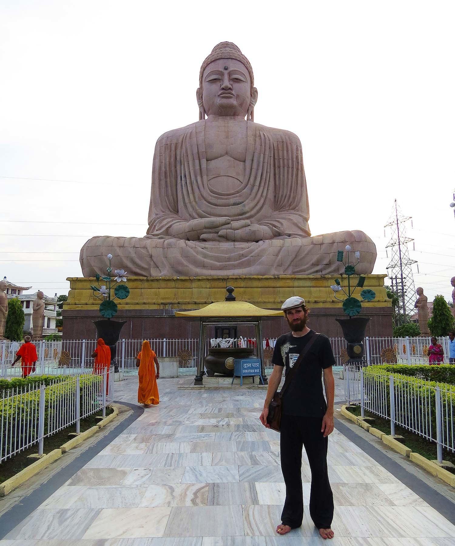 A Buddha statue in Bodhgaya.